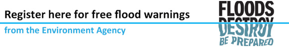 Register here for free flood warnings