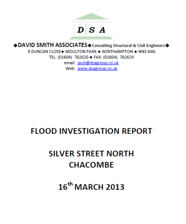Flood Investigation – Chacombe, March 2013