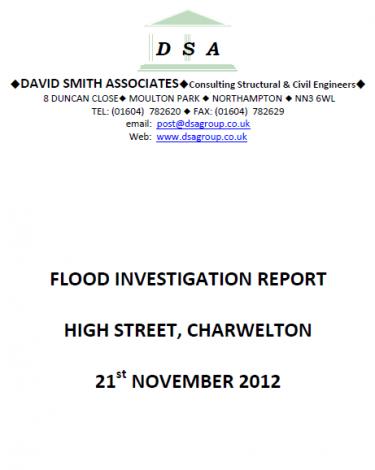 Flood Investigation – Charwelton, November 2012