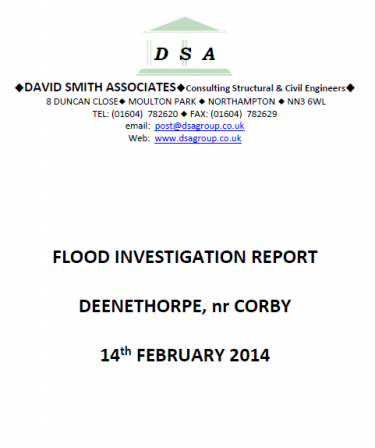 Flood Investigation – Deenethorpe, February 2014