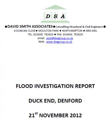 Flood Investigation – Denford, November 2012