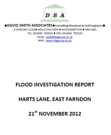 Flood Investigation – East Farndon, November 2012