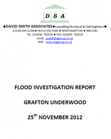 Flood Investigation – Grafton Underwood, November 2012