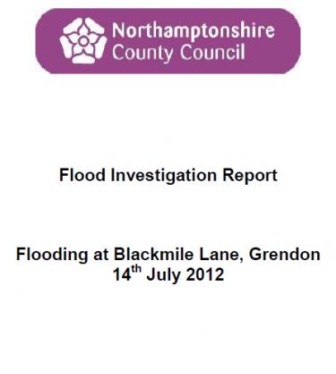 Flood Investigation – Grendon, July 2012