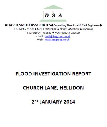 Flood Investigation – Hellidon, January 2014