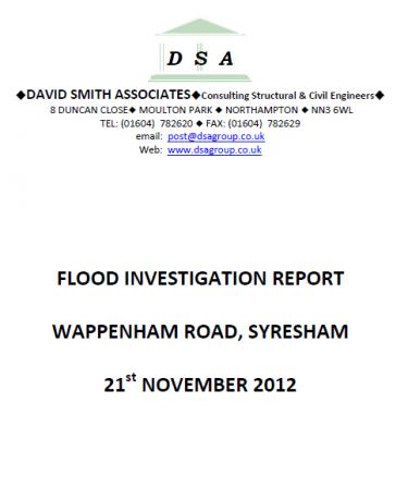 Flood Investigation – Syresham, November 2012