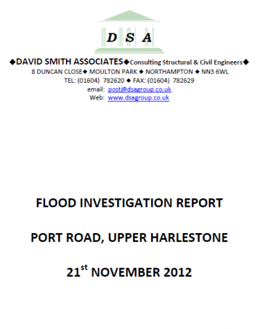 Flood Investigation – Upper Harlestone, November 2012