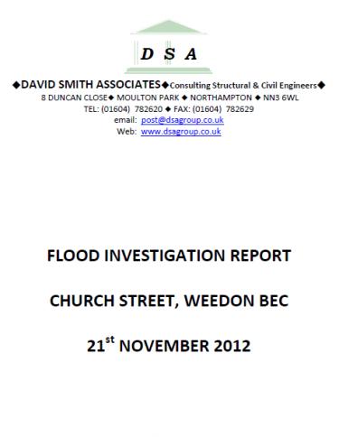 Flood Investigation – Weedon Bec, November 2012