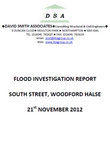 Flood Investigation – Woodford Halse, November 2012
