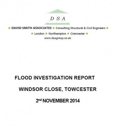Flood Investigation – Towcester, Windsor Close, November 2014