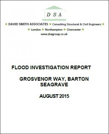 Flood Investigation – Barton Seagrave, August 2015
