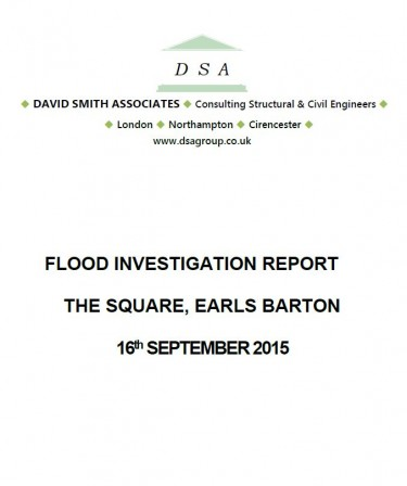 Flood Investigation – Earls Barton, September 2015