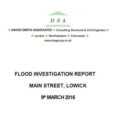 Flood Investigation – Lowick, March 2016