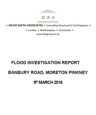 Flood Investigation – Moreton Pinkney, March 2016
