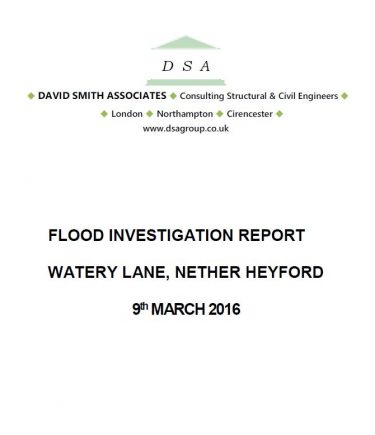 Flood Investigation – Nether Heyford, March 2016