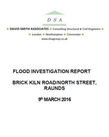 Flood Investigation – Raunds, March 2016