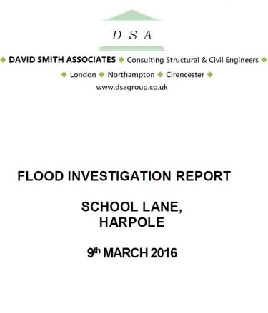 Flood Investigation – Harpole, March 2016