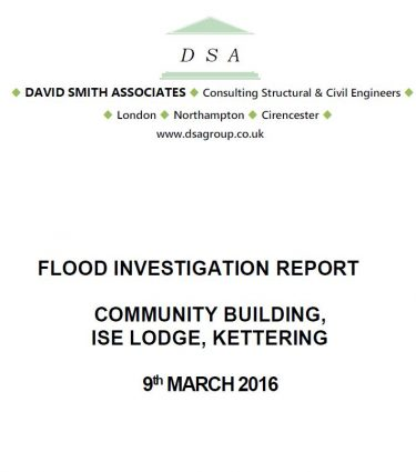 Flood Investigation – Ise Lodge, Kettering, March 2016