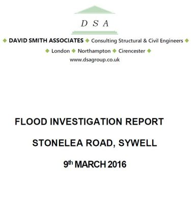 Flood Investigation – Sywell, March 2016