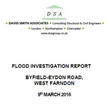 Flood Investigation – West Farndon, March 2016