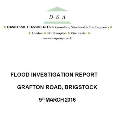 Flood Investigation – Brigstock, March 2016