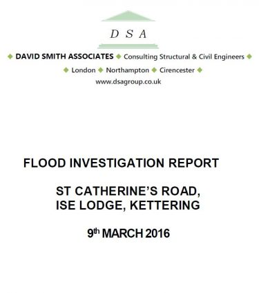 Flood Investigation – Ise Lodge, March 2016
