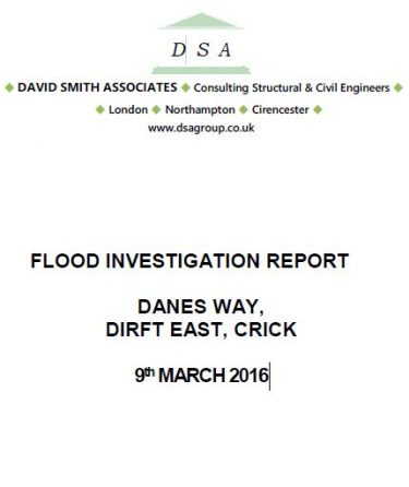 Flood Investigation – DIRFT Crick, March 2016