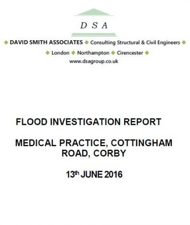Flood Investigation – Cottingham Road, Corby, June 2016