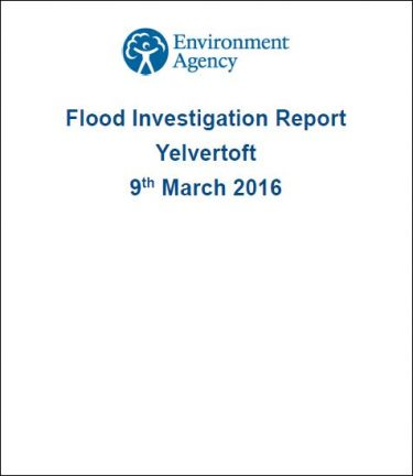 Flood Investigation – Yelvertoft, March 2016