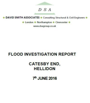 Flood Investigation – Hellidon, June 2016