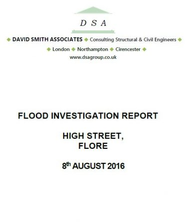 Flood Investigation – Flore, August 2016