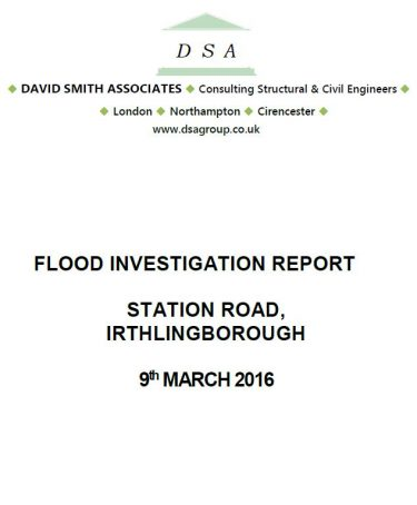 Flood Investigation – Irthlingborough, March 2016