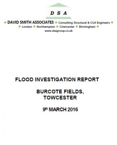 Flood Investigation – Towcester, March 2016