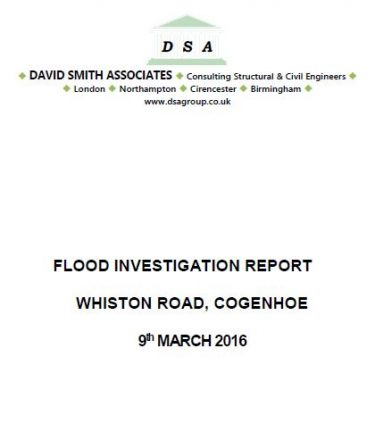 Flood Investigation – Cogenhoe, March 2016