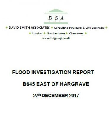 Flood Investigation – B645 East of Hargrave, December 2017