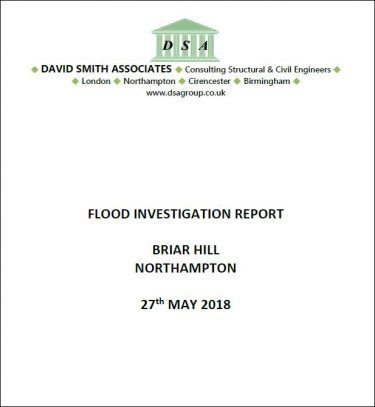 Flood Investigation – Briar Hill, Northampton, May 2018
