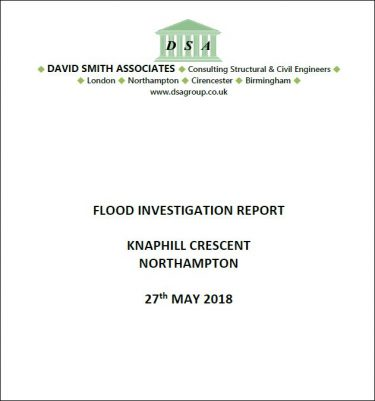 Flood Investigation – Knaphill Crescent, Northampton, May 2018