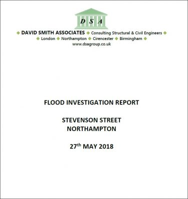 Flood Investigation – Stevenson Street, Northampton, May 2018