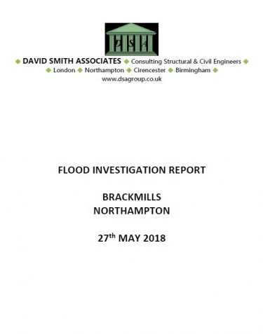 Flood Investigation – Brackmills, Northampton, May 2018