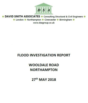 Flood Investigation – Wooldale Road, Northampton, May 2018