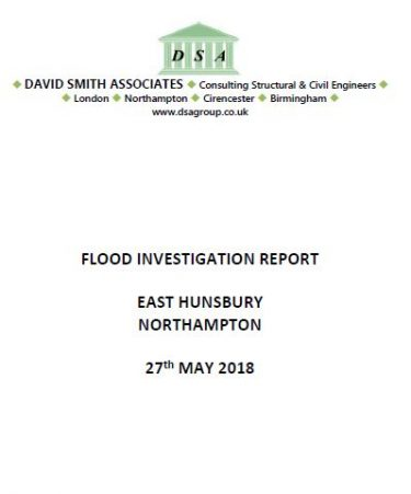 Flood Investigation – East Hunsbury, Northampton, May 2018