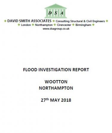 Flood Investigation – Wootton, Northampton, May 2018