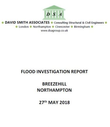 Flood Investigation – Breezehill, Northampton, May 2018