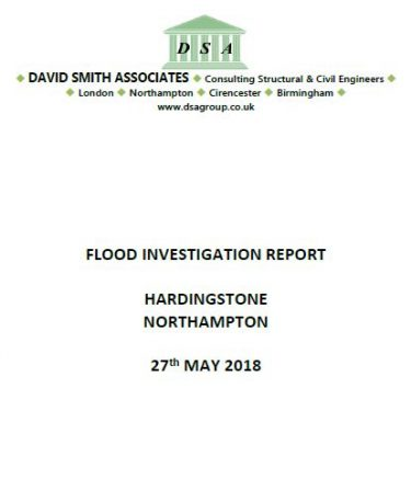 Flood Investigation – Hardingstone, Northampton, May 2018