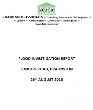 Flood Investigation – London Road, Braunston, October 2018
